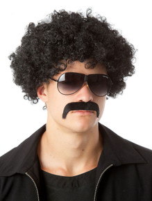 70's Fro & Mo Set - (Black) Party Afro Costume Wig & Moustache