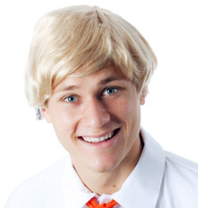 Blonde Short Mens Costume Wig (Fred Scooby Doo, Ken Barbie) - by Allaura