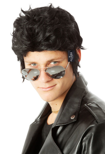 Danny 1950's Grease Black Costume Wig - by Allaura