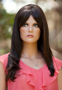 "SHERIDAN - Heat Resistant Brown 23"" Straight Wig - by Allaura"
