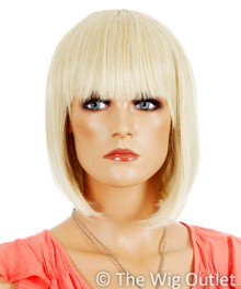 DELUXE Ally (Blonde 24T613) Premium Fashion Wig / 1920's Flapper Bob - Heat Resistant