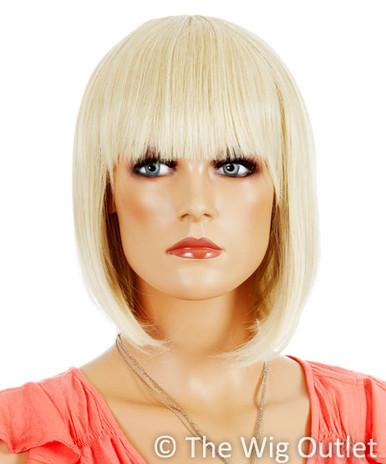 DELUXE Ally (Blonde 24T613) Premium Fashion Wig / 1920's Flapper Bob - Heat Resistant