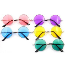 SUNGLASSES - Hippie Coloured Circle Glasses