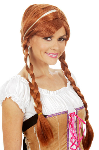 Frozen Inspired Princess Anna Costume Wig (Adult)