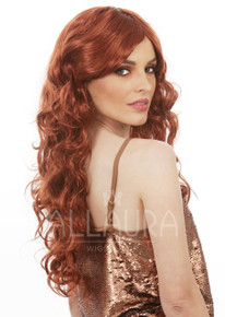 80's Goddess Auburn Long Costume Wig - by Allaura