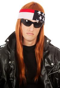 Axl Rocker Costume Wig with Bandana