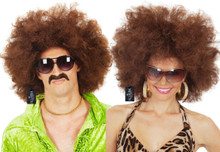 Jumbo Brown Afro 70's Disco Costume Wig - Unisex - by Allaura