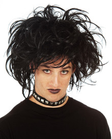 Goth Punk Emo Black Costume Wig (9236)