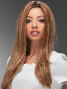 BLAKE - Human Hair Lace Front Monofilament Straight Long Wig - by Jon Renau