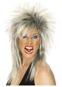Rock Diva (Tina Turner) Blonde and Black Costume Wig