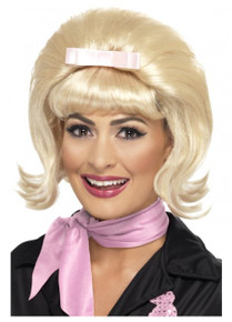 50's Flicked Beehive Blonde Bob Costume Wig