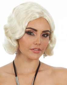 DELUXE Classic Finger Curls Blonde Costume Wig