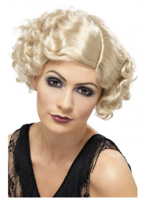 20's Flirty Flapper Wig, Blonde, Short and Wavy