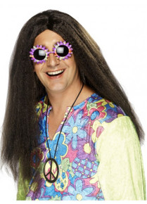 Hippy Wig, Brown, Long with Centre Parting