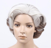 DELUXE Mrs Doubtfire Inspired Grey Costume Wig (20056)