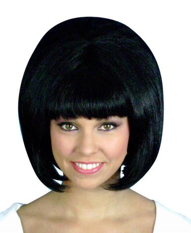 Beehive 1960's (Black) Costume Wig (High Quality)