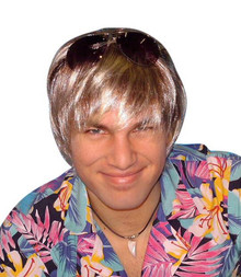 Surfer Dude Bleached Blonde Costume Wig