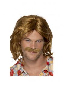 70's Dude Shag Wig & Moustache