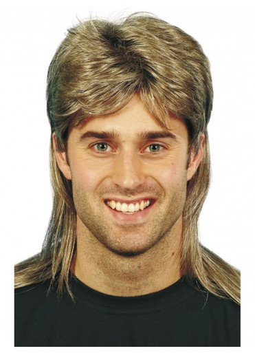 Mullet - 80's Blonde and Brown Mullet Costume Wig