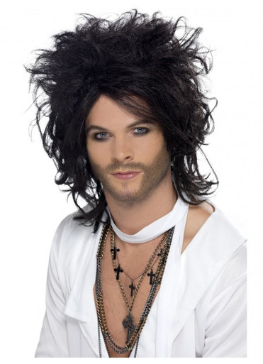 Russell Brand Inspired Sex God Black Costume Wig