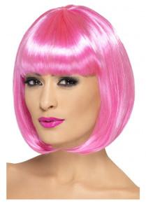 Pink Short Bob Partyrama Costume Wig