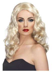 Blonde Long and Wavy Glamorous Costume Wig