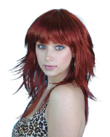 70s / 80s Auburn Retro Layered Long Costume Wig