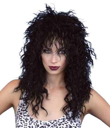 Cher 80's Rocker Black Costume Wig