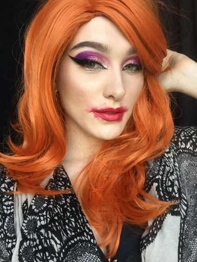 DELUXE Jessica Rabbit (Orange) Costume Wig - Allaura Brand