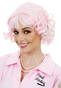 Pink Beauty School Dropout Ladies Costume Wig (Grease Frenchy)