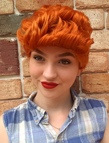 Pauline Hanson Inspired Fire Red Short Costume Wig