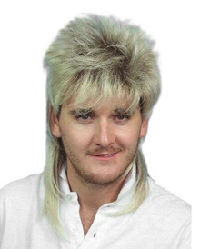 Mullet - 80's Blonde/Brown Classic Costume Wig