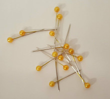 Pack of 20 Round Glass Head Pins for Block Head Wig Styling
