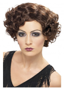 Brown 1920's Flirty Flapper Wig