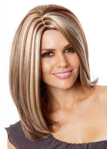 DELUXE Rachel  (Auburn with Blonde Highlights 33H27H613) Fashion Wig - Kanekalon Fibre