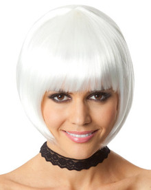 Party Bob (White) Costume Wig