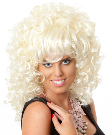 DELUXE Blonde 80's Super Perm (Carrie Sex and the City) Costume Wig
