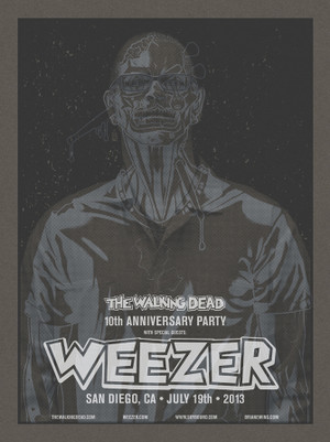 WEEZER WALKING DEAD X-RAY BLACK SET