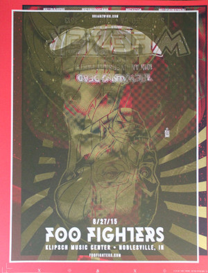 FOO FIGHTERS/WEEZER TEST PRINT 1