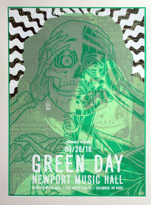 """GREEN DAY CHELSEA WOLFE""  Test print"