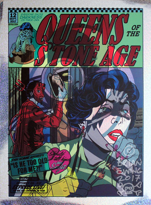 """  QUEENS OF THE STONE AGE BATMAN"" test print 6 foil"