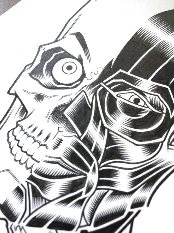 FOO FIGHTERS DETROIT ORIGINAL ART
