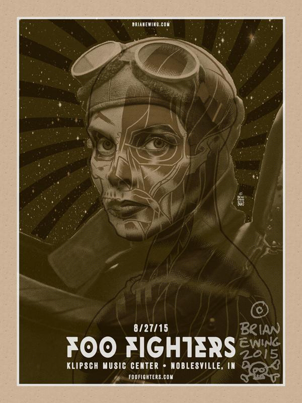 FOO FIGHTERS INDIANA ORIGINAL ART