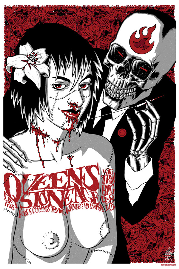 """"""" QUEENS OF THE STONE AGE"""" w THROWRAG"""