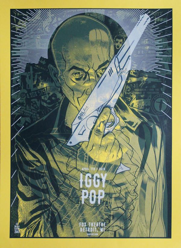 """IGGY POP Fabulous Killjoys Werewolf "" Test print"