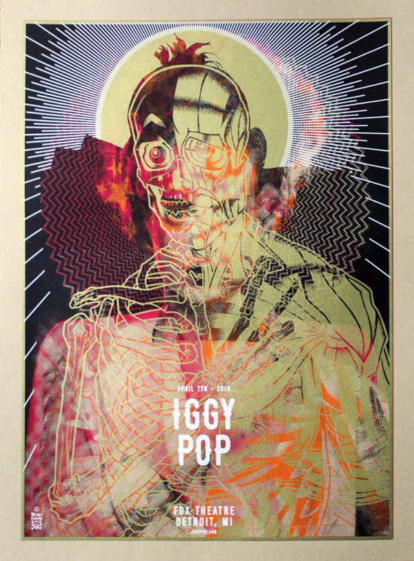 """TAXI DRIVER IGGY POP BRIDE MARILYN"" TEST PRINT"