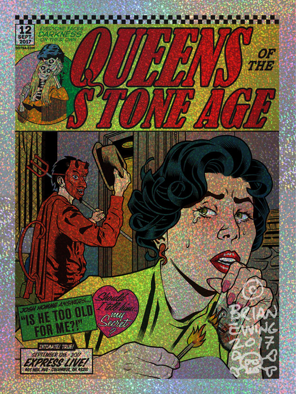 """""""  QUEENS OF THE STONE AGE""""  6- foil"""