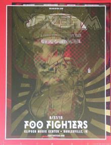 FOO FIGHTERS/WEEZER TEST PRINT 1