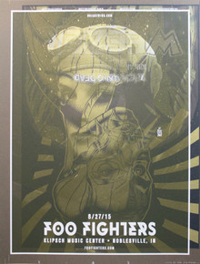 FOO FIGHTERS/WEEZER TEST PRINT 2