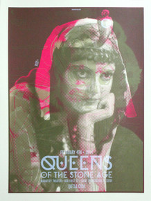 """""""QUEENS OF THE STONE AGE MARILYN"""" Test print"""
